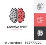 linear brain icon in vector.... | Shutterstock .eps vector #583777120
