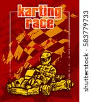 karting race   Shutterstock .eps vector #583779733