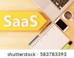 saas   software as a service  ...   Shutterstock . vector #583783393