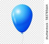 blue transparent balloon. | Shutterstock .eps vector #583785664