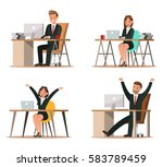 set of business characters... | Shutterstock .eps vector #583789459
