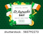st. or saint patrick's day...   Shutterstock .eps vector #583792273