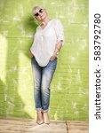 fashionable beautiful senior... | Shutterstock . vector #583792780