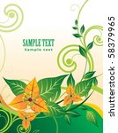 floral design | Shutterstock .eps vector #58379965