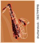 jazz music festival background... | Shutterstock . vector #583799998