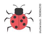 ladybug animal insect garden... | Shutterstock .eps vector #583806550