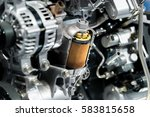 engine oil filter cross section ... | Shutterstock . vector #583815658