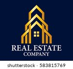 real estate  building ... | Shutterstock .eps vector #583815769