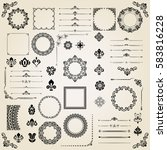 vintage set of vector... | Shutterstock .eps vector #583816228
