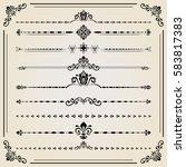 vintage set of vector... | Shutterstock .eps vector #583817383