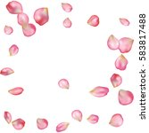 spring flower petals blossoms... | Shutterstock .eps vector #583817488