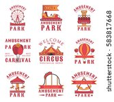 set of amusement park logos ... | Shutterstock .eps vector #583817668