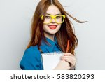a beautiful smile business... | Shutterstock . vector #583820293