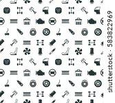 car spare parts vector seamless ...   Shutterstock .eps vector #583822969