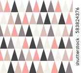 multicolored triangles ... | Shutterstock .eps vector #583824376