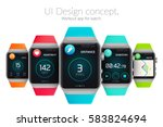 ui design concept with colorful ...