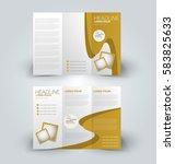 brochure mock up design... | Shutterstock .eps vector #583825633
