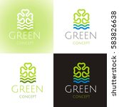 ecological symbol logo set with ... | Shutterstock .eps vector #583826638