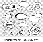 sound effect set design for... | Shutterstock .eps vector #583837594