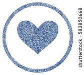 Love Heart Textured Icon For...