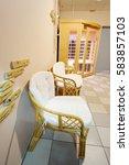 interier of a sauna | Shutterstock . vector #583857103
