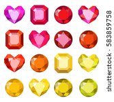 gems isolated on white...   Shutterstock .eps vector #583859758