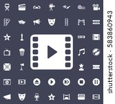 video play icon. movie set of...   Shutterstock .eps vector #583860943