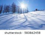 ski resort in hokkaido | Shutterstock . vector #583862458