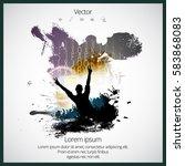 silhouette of dancing people | Shutterstock .eps vector #583868083