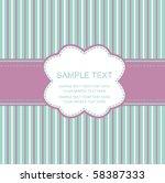 frame design for greeting card | Shutterstock .eps vector #58387333