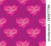pink pattern with heart.... | Shutterstock . vector #583877788