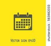 calendar icon | Shutterstock .eps vector #583882033