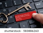 closed up finger on keyboard... | Shutterstock . vector #583886263