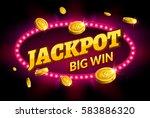 jackpot gambling retro banner...   Shutterstock .eps vector #583886320