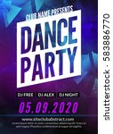 dance party poster template.... | Shutterstock .eps vector #583886770