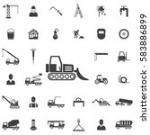 loader icon. construction icons ... | Shutterstock . vector #583886899