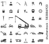 truck crane icon. construction... | Shutterstock . vector #583886920