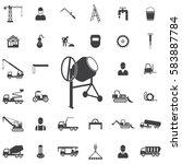 concrete mixer icon.... | Shutterstock . vector #583887784