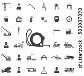 construction ruler icon.... | Shutterstock . vector #583887898