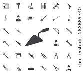 putty knife icon. construction... | Shutterstock . vector #583889740