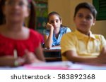 young people and education....   Shutterstock . vector #583892368