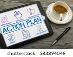 action plan chart with keywords ... | Shutterstock . vector #583894048