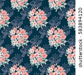 seamless delicate pattern of... | Shutterstock . vector #583894120