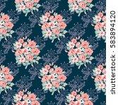 seamless delicate pattern of...   Shutterstock . vector #583894120