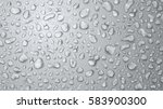 background of water drops on... | Shutterstock .eps vector #583900300