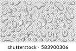 set of gray translucent drops...   Shutterstock .eps vector #583900306