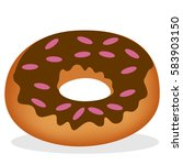 a donut for bakery. with... | Shutterstock .eps vector #583903150