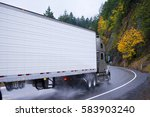 powerful semi truck with a... | Shutterstock . vector #583903240