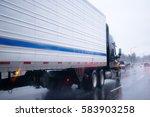 big rig semi truck with... | Shutterstock . vector #583903258