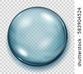 big translucent light blue... | Shutterstock .eps vector #583904524